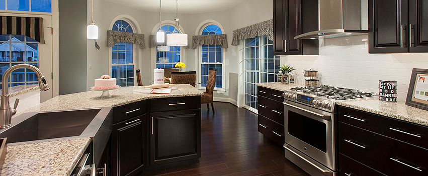Noble s pond proudly opened the carolina model home on for Model home kitchens