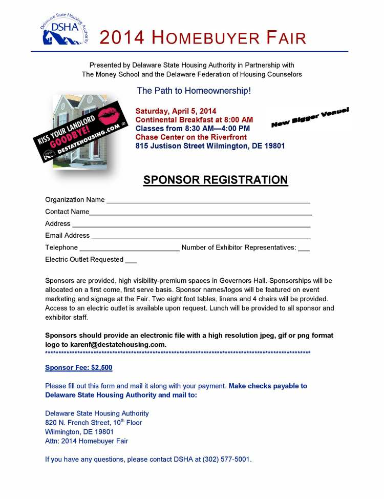 2014 Homebuyer Fair SPONSOR Registration Form vK