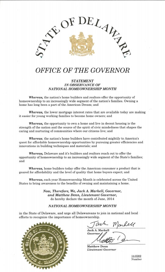 national homeownership month proclamation