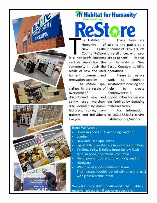 ABC Habitat NCC ReStore Flyer Builders and Contractors