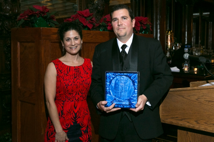 Debra Young (left) presents Associate of the Year Award to Jeff Haggerty (right)