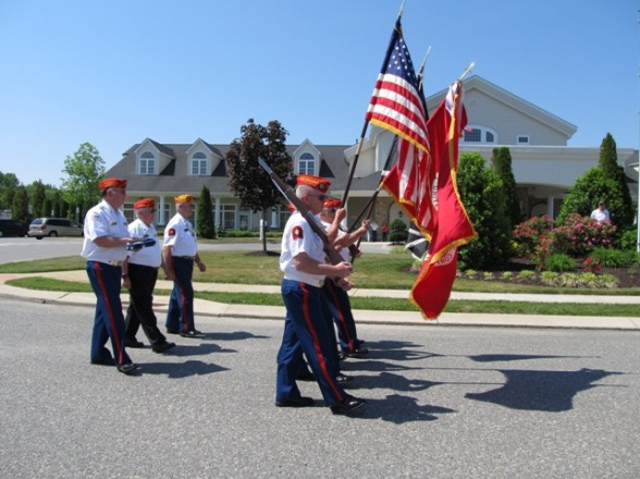 #1 Color Guard proceed to Flag Dedication point