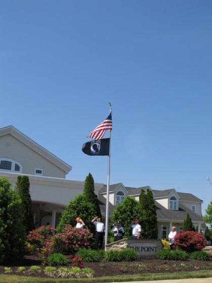 #2 Committee Members Salute America Flag and POW Flag